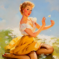 Gil Elvgren, Pin up,