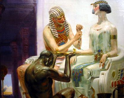 Egyptian Royalty Advertising Illustration