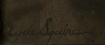 Artist's signature and date