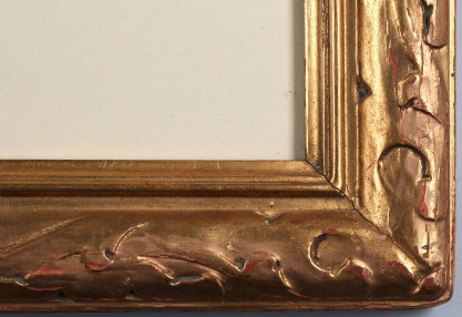 Ornate art deco gesso carved vintage frame detail