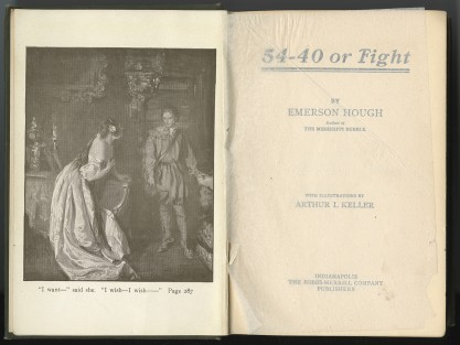 Published Illustration in 54-40 Or Fight