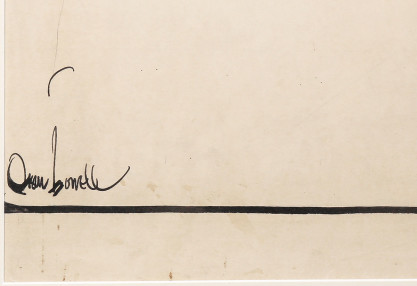 The artists signature