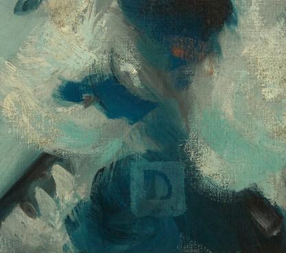 The artist's monogram signature