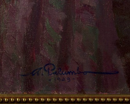 The artist's signature and date lower left