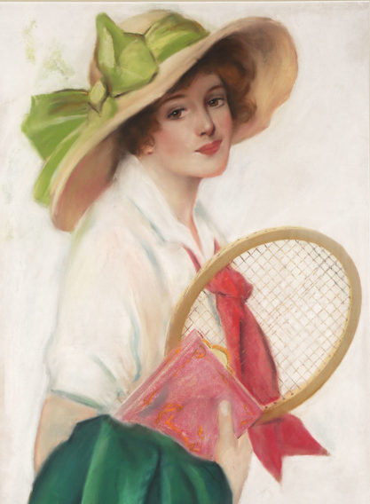Detail of sporting glamour girl