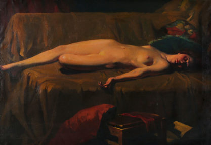 The reclining nude; Full View