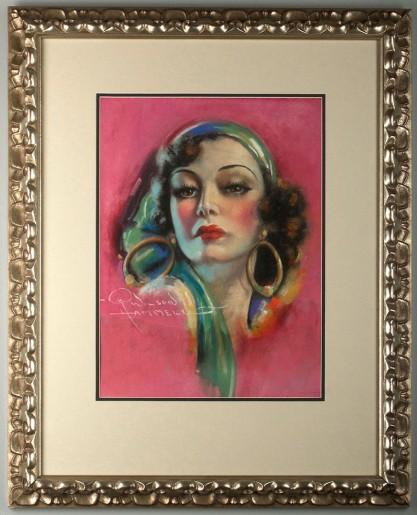 Framed view in handsome newer gallery frame