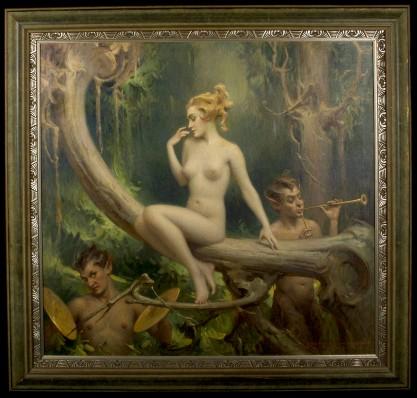 Framed view in fabulous art deco gallery frame
