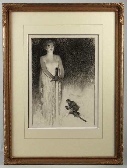 Framed in handsome antique frame