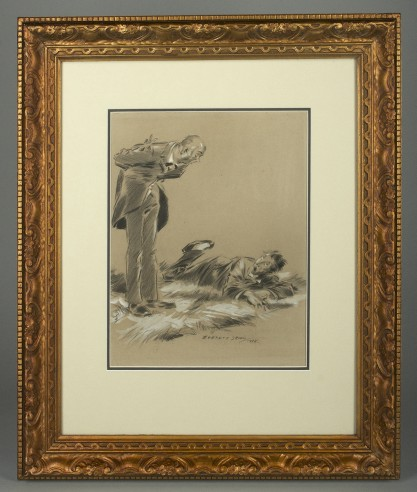 Matted and framed in period gesso frame