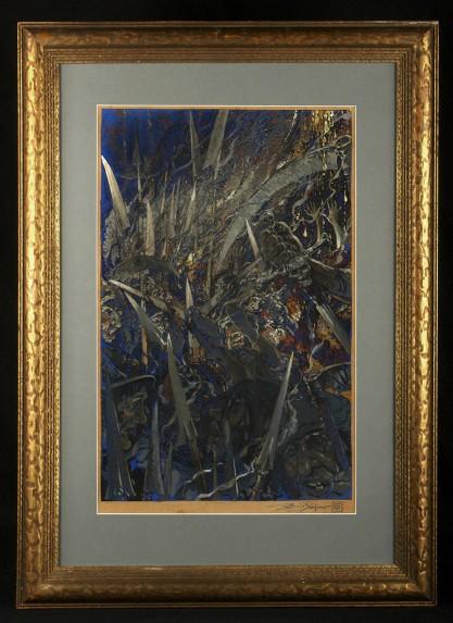 Framed in a period wide profile antique frame