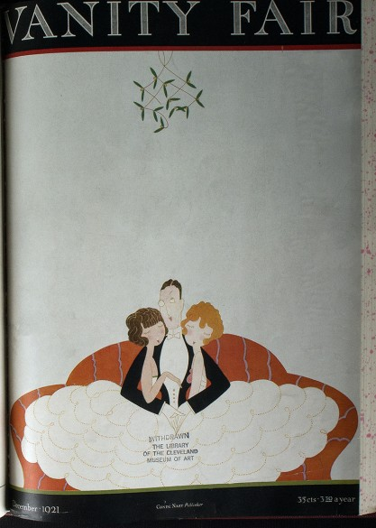 The painting as it appeared as the cover of Vanity Fair (included in sale)
