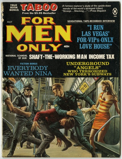"The painting as it appeared as the Cover ""For Men Only"""