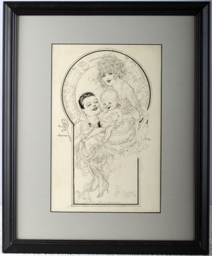 Framed and matted under glass view