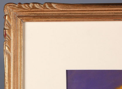 Frame profile and matting view