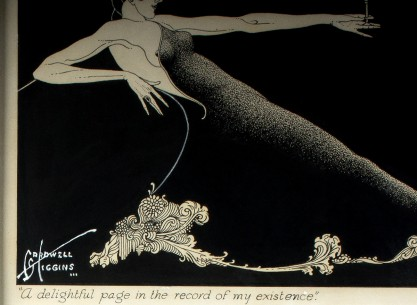 The artist's signature and title lower left