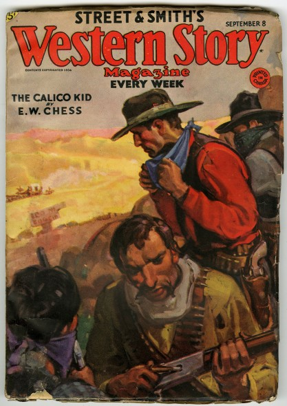 Western Stories Pulp - Sept, 8, 1934 with published cover art included in sale.