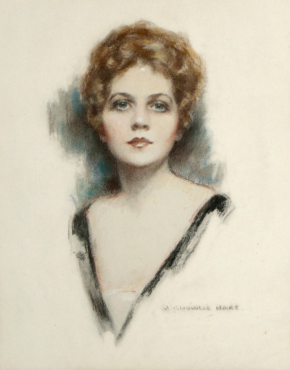 Full View of pastel by John Knowles Hare