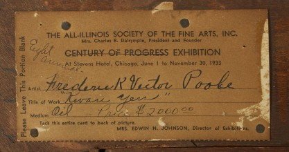 Verso Exhibit Label from Chicago World's Fair