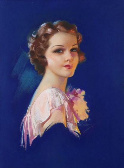 Full view of pastel calendar girl image