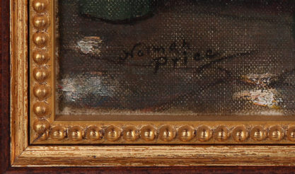 The artist's signature lower right.
