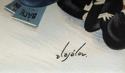 The artist's signature lower right
