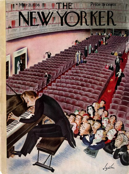 The painting as the cover of New Yorker Magazine (included in sale)
