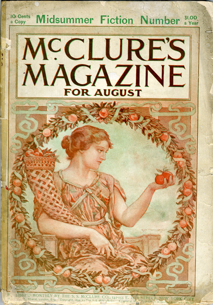 The artwork as it appears on the cover of McClures Magazine