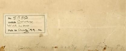 Verso notations