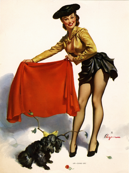 Vintage Brown & Bigelow calendar print included in sale