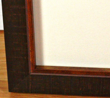 Frame profile corner view
