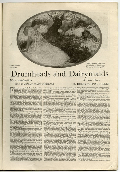 November 1918 edition of a Woman's Home Companion, featuring Drumheads and Dairy Maids. Included in sale.