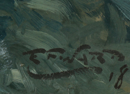 The artists signature and date