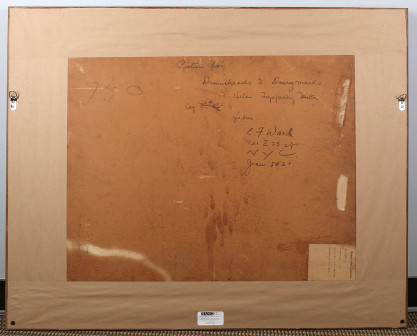 Verso with hand notations