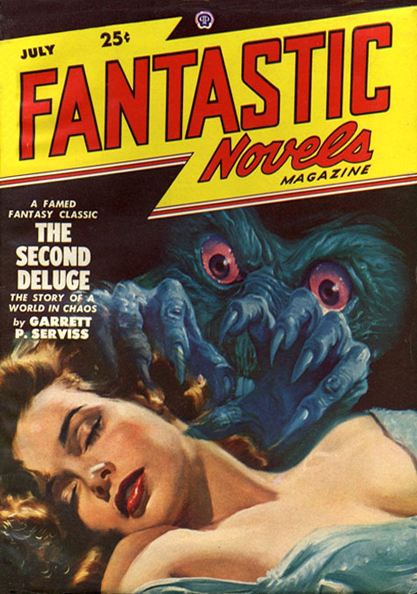 The images as it appeared on the cover of Fantastic Novels