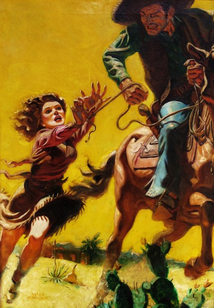 Allen Anderson's Cover for Speed Western Stories - February 1943.