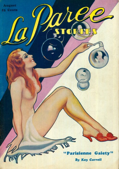 The painting as it appeared as the cover for La Paree Stories -August, 1933