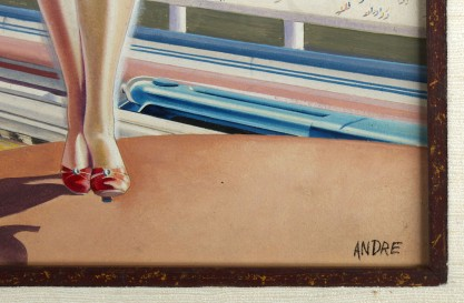 """The artist's signature of """"Andre"""" lower right"""