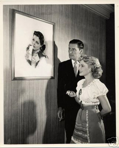 The artist with actor Eroll Flynn