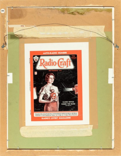 The illustration as it appeared as the cover for Radio-Craft Magazine July, 1934