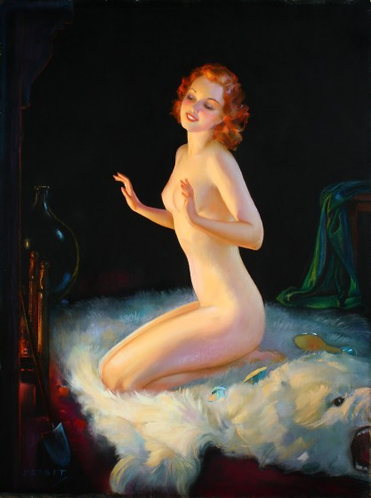 Full view of pastel on board illustration