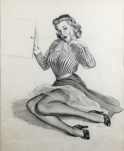 Full view of graphite drawing