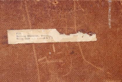 Verso notations seen before framing