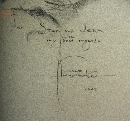 The artist's signature and inscription lower right