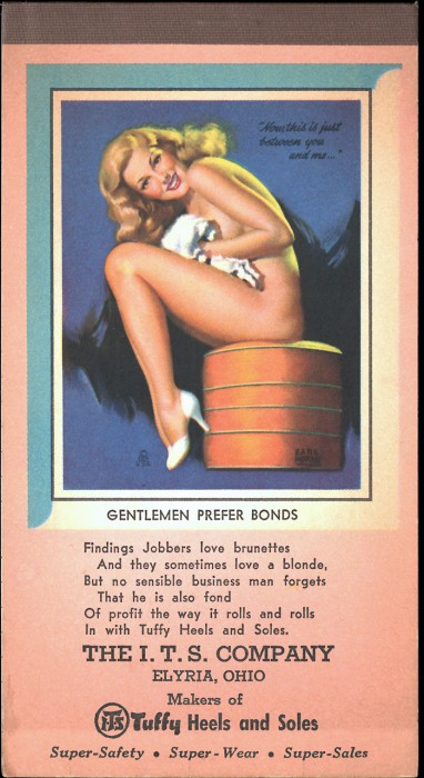 Gentlemen Prefer Bonds advertising tablet