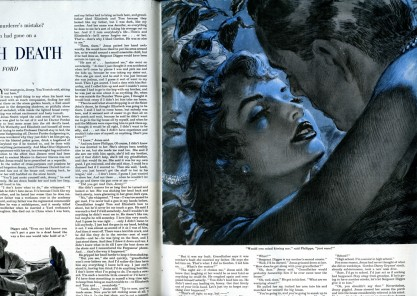 The Illustration as it appears in the February 12, 1949 Saturday Evening Post (included in sale)