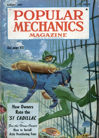 The painting as it appears on the cover of Popular Mechanics Magazine, August, 1951