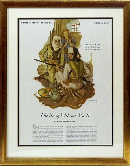 The artwork as it appeared in print - Ladies Home Journal - May, 1937