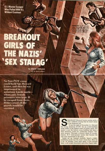 The artwork as it appeared in the pages of Male Magazine, July, 1972