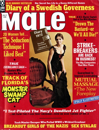 A complete high grade opf Male Magazine, which features the artwork on pages 24- 25 is included in the sale.